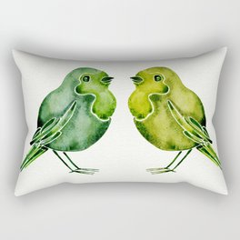 Parakeets Rectangular Pillow