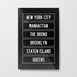 New York City Wall Art Metal Print