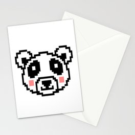Video Game Panda 16 Bit Retro Vintage Graphic Gaming Animal Kids Gift Idea Stationery Cards