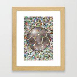 Soccer Ball on Philately Framed Art Print