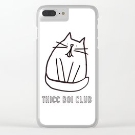 Thicc Boi Club Clear iPhone Case