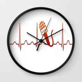 NEWSCASTER HEARTBEAT Wall Clock