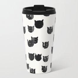 Grungy cat Travel Mug