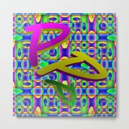 P - pattern b Metal Print