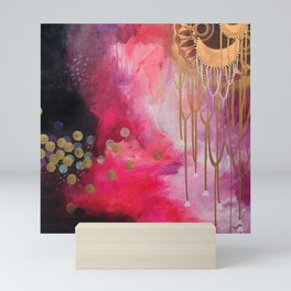Love Bomb Original Painting by Rachael Rice Mini Art Print