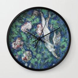Marc Chagall Lange dans les Fleurs Wall Clock