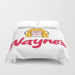 WAYNE'S SINGLE #2 Duvet Cover