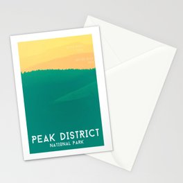 Rolling Hills Peak District Poster Stationery Cards