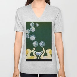 "1920's Art Deco Design ""Bubbles"" Unisex V-Neck"