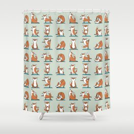 Fox Yoga Shower Curtain