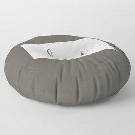 South Dakota is Home - White on Charcoal Floor Pillow