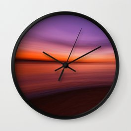 warm colours for cold day Wall Clock