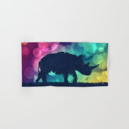 Pop Art Rhinoceros Hand & Bath Towel
