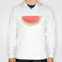 watermelon Hoodies featuring Watermelon by Cassia Beck