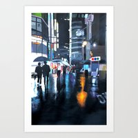 seoul Art Prints featuring Seoul by emily s.m.