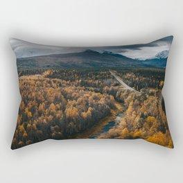 Arctic Autumn - Landscape and Nature Photography Rectangular Pillow