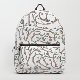Orange Branches Pattern Backpack
