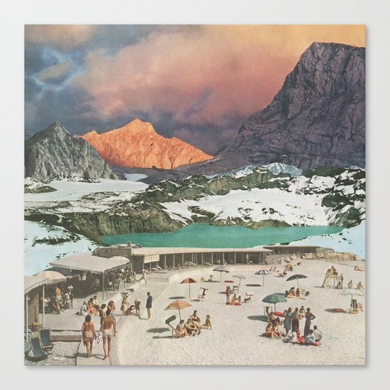 Jade Lake Resort Canvas Print