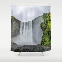 iceland Shower Curtains featuring Intrepid Iceland by Alex Tonetti Photography