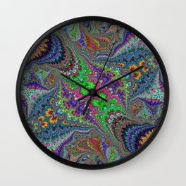 Fractal Abstract 46 Wall Clock