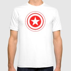 Capitaine Amérique SMALL Mens Fitted Tee White