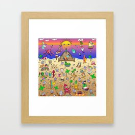 Danvillage Beach Life Framed Art Print