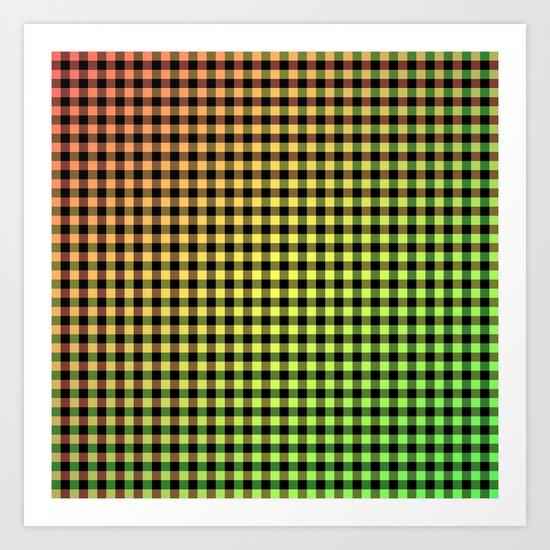 Plaid - Tricolor Art Print