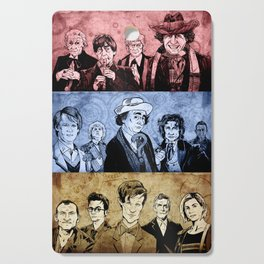 Doctor Who - Three Colours Who Cutting Board