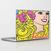 barbie Laptop & iPad Skins featuring Blonde Barbie by LuxuryLivingNYC