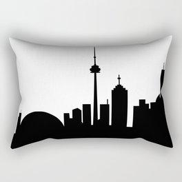 Toronto Skyline - B and W Rectangular Pillow