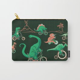 Dinosaurs on Bikes! Carry-All Pouch