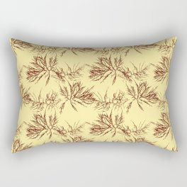 Ocean Plant Pattern Rectangular Pillow