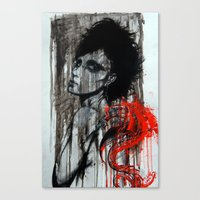 pain Canvas Prints featuring Pain by Clayton Young