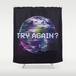 Humanity Glitch Shower Curtain