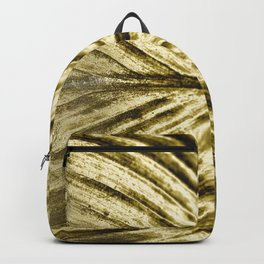 Golden Leaves on a red background Backpack