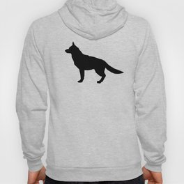 German Shepherd silhouette black and white minimal dog breed square dogs dog art Hoody