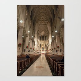 St. Patrick's Cathedral Worship Canvas Print
