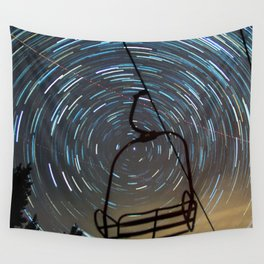 Chair Lift Spiral Wall Tapestry