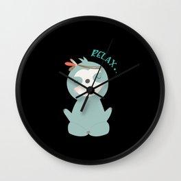 Funny Sloth Gift Birthday Wall Clock