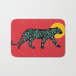 Black cheetah Bath Mat