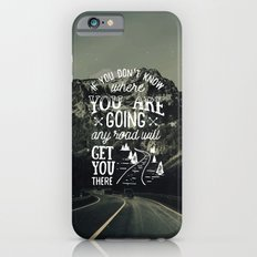 Inspirational Quote and Mountains IV iPhone 6s Slim Case