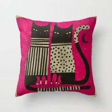 PINK NIGHT Throw Pillow