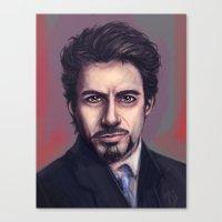 tony stark Canvas Prints featuring Tony Stark by pandatails