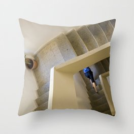 Walking up - coming down Throw Pillow