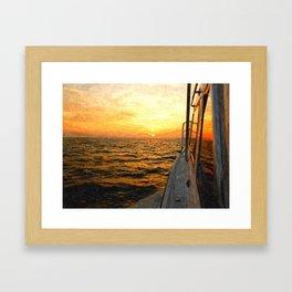 Heading East Framed Art Print