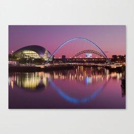 River Tyne Sunset Canvas Print