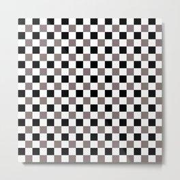 Trippy Checkerboard Metal Print