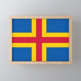 flag of Aland Framed Mini Art Print