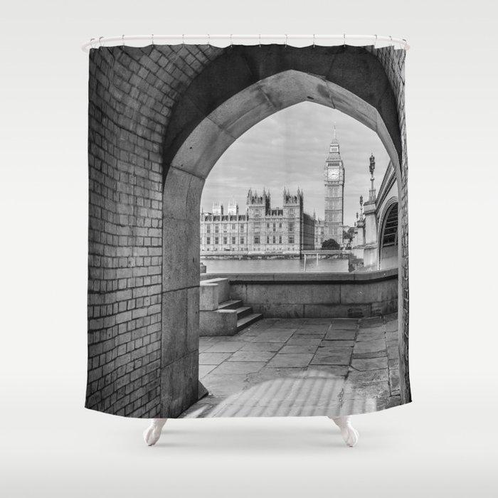 Big ben and bridge Shower Curtain