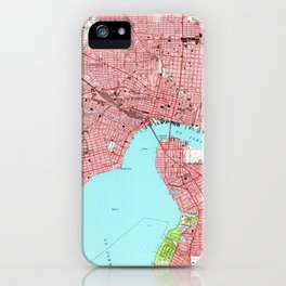 Vintage Map of Jacksonville Florida (1950) iPhone Case